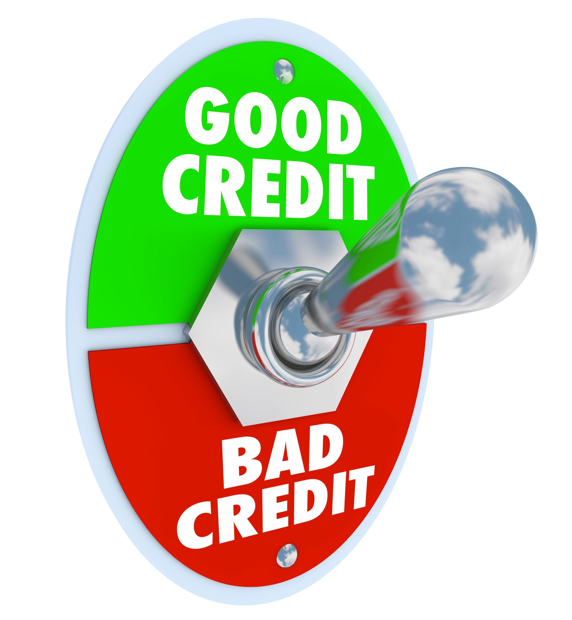 Good Vs Bad Credit Toggle Switch Great Score Rating