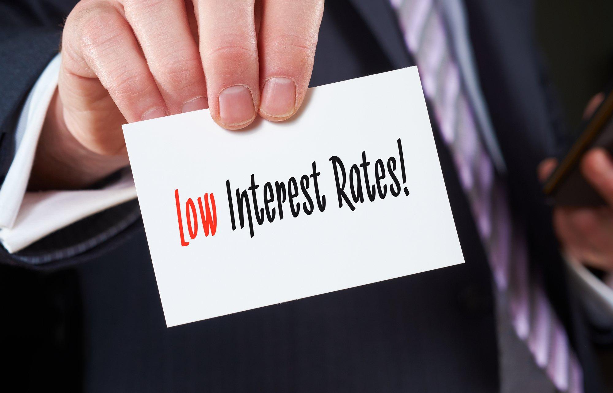 Low Interest Rates concept