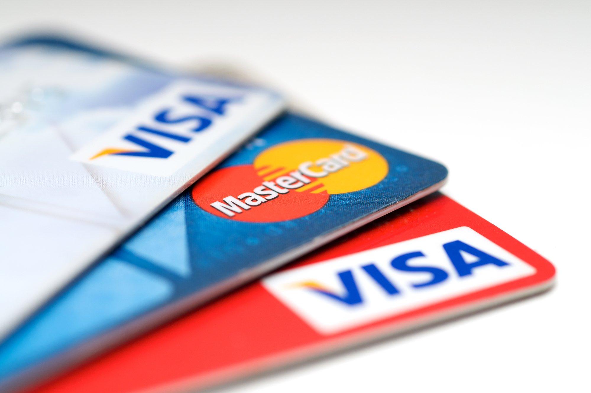 VISA and Mastercard credit card-1
