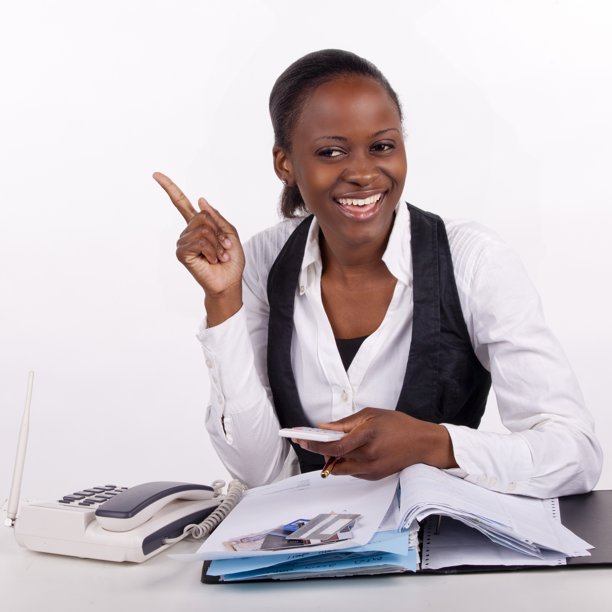Young South African office worker